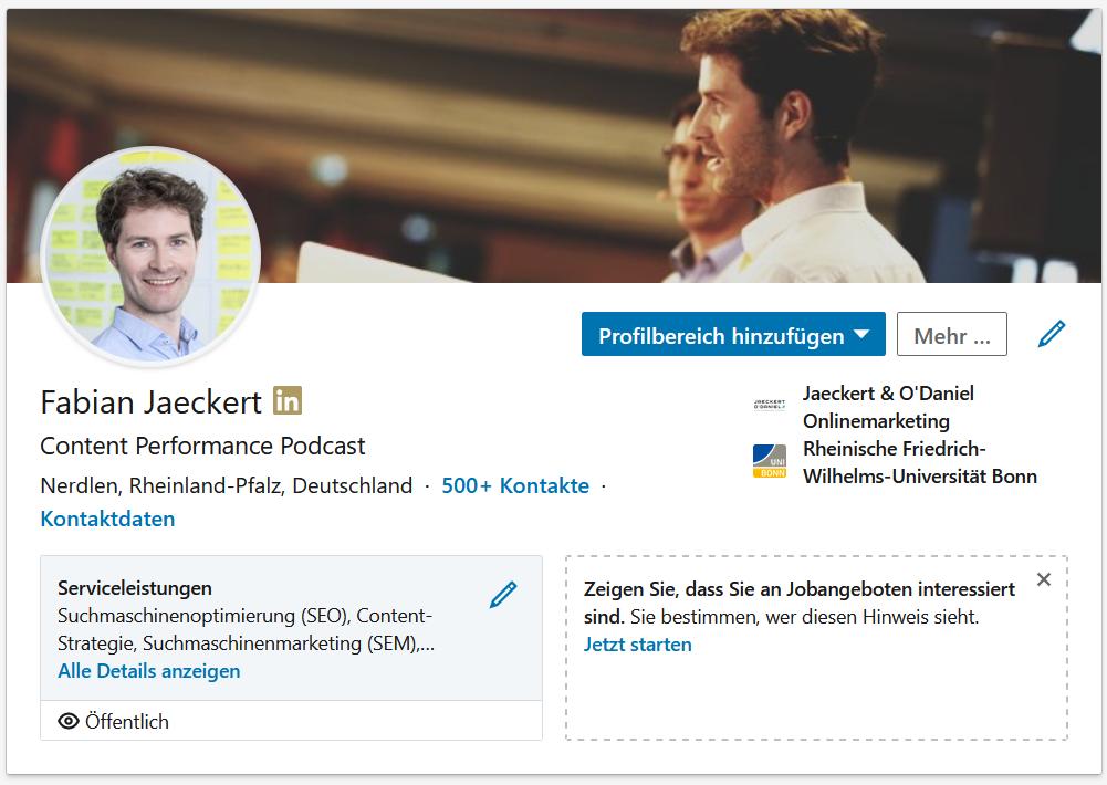 Ein LinkedIn Profil