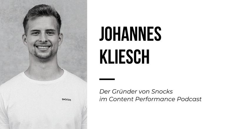 Johannes Kliesch von Snocks im Content Performance Podcast