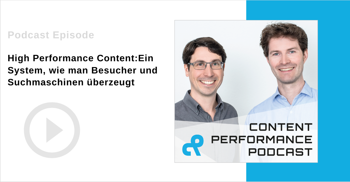 Podcast Folge zu High Performance Content