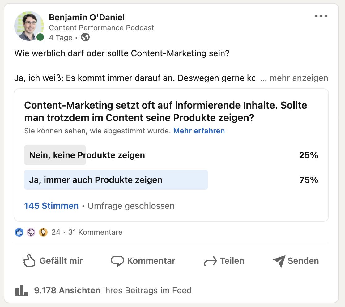 Content Marketing und Produktwerbung